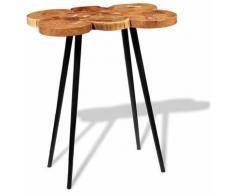 Helloshop26 - Table haute mange debout bar bistrot bois d'acacia massif 110 cm - Bois