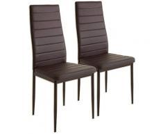 Jeobest - 2pcs chaises mis à manger chaise cuisine cuisine chaise chaise de bar marron