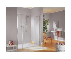Porte de douche pivotante grand large, verre 6 mm anticalcaire, profilé aspect chromé, MasterClass,
