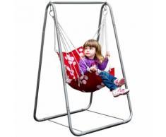 eyepower Balançoire Siège + Support en fer | pour Enfants poids supporté max 50Kg | chaise avec