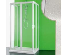 Cabine douche 3 côtés 80x120x80 CM en acrylique mod. Venere avec ouverture centrale