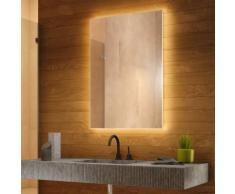 Miroir de Salle de Bain Rétro-Éclairé Lumière du Jour avec désembuage k710BLCW - Couleur LED :