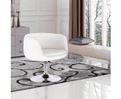 Mercatoxl - MercartoXL chaise de bar-salon avec repose-bras imitation cuir blanc
