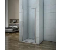 Porte de douche 76x187cm porte de douche pivotante installation en niche