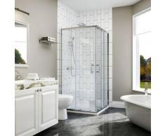 120x120x185cm Cabine de douche Entrée d'angle Cabine de douche Portes coulissantes carrées
