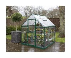 Serre de jardin HARMONY 6x6 vert - 3.6m²