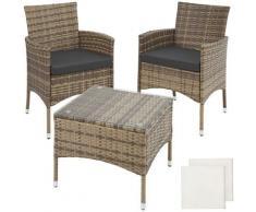 Tectake - Salon de jardin LUCERNE 2 places avec 2 sets de housses - mobilier de jardin, meuble de