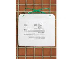 Porte-documents magnétique - avec crochet et bande magnétique, pour format A4 - h x l 220 x 310 mm,
