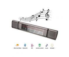 Heat & Beat - Chauffage infrarouge Bluetooth avec haut-parleur et rétroéclairage