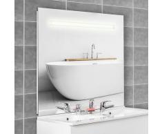 Miroir 140x105 cm - éclairage intégré à LED et interrupteur sensitif - Elegance