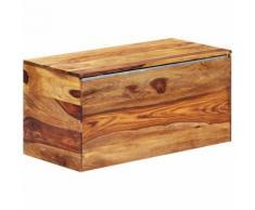 Hommoo Coffre de rangement 80 x 40 x 40 cm Bois massif de Sesham