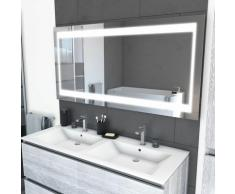 Miroir salle de bain LED auto-éclairant CHRONOS 140x70cm