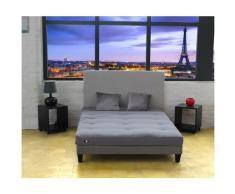 Matelas Futon Coton Couleur - Gris Clair, Dimensions - 160 x 200 cm
