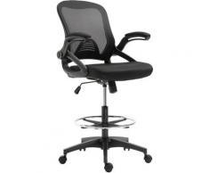 Homcom - Fauteuil de bureau chaise de bureau assise haute réglable dim. 64L x 60l x 106-126H cm