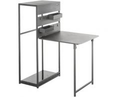 Table de balcon repliable Fira - 3 Personnes - Gris graphite