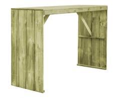 Youthup - Table de bar 170x60x110 cm Pin imprégné