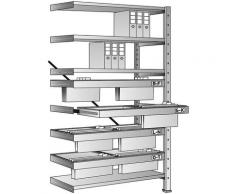 Rayonnage emboîtable pour dossiers suspendus - hauteur 2280 mm, châssis à 2 rangées - rayonnage