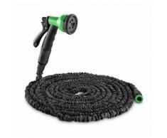 Waldbeck Water Wizard 30 Tuyau d'arrosage souple 8 fonctions 30 m noir