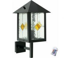 Lampe extérieure Lampe télécommande noire Tiffany Lampe murale en verre réglable dans un ensemble