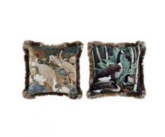 Coussin dkd home decor oiseaux polyester (45 x 45 cm) (2 pcs) - Rogal