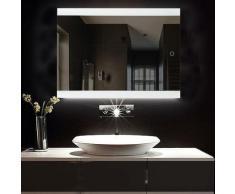 Miroir LED Salle de Bain Miroir 60*80cm Anti-brouillard avec Eclairage
