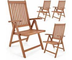 Set de 4 chaises pliantes Vanamo en bois d'eucalyptus chaise de jardin pliable