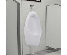 Topdeal VDTD05853_FR Urinoir mural avec système de rinçage Céramique