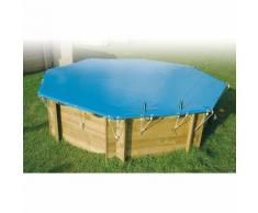 Bâche d'hivernage pour piscine bois Ubbink octogonale Modèle - Lagon 4,50m octogonale