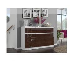 RIGA 2   Commode contemporaine chambre/salon/bureau Gloss 40x120x98   3 tiroirs 3 portes   Dressing