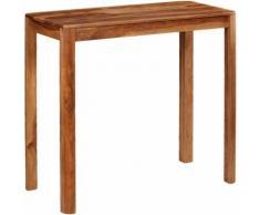Hommoo Table de bar Bois de Sesham massif 115 x 55 x 107 cm