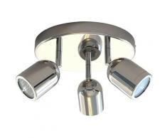Vala - Plafonnier 3 Spots Orientables Salle de Bain Farant IP44 25W*3, LED Angle Réglable Éclairage