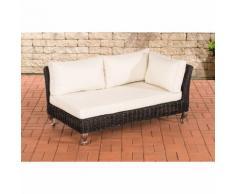 Canapé d'angle Moss rond/noir Blanc beige