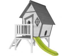 Cabin XL Playhouse: Maisonnette pour enfants, fenêtres intégrées et bois très résistant