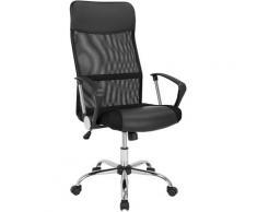 Deuba Fauteuil de bureau - Noir • pivotant • ergonomique • réglable en hauteur • fonction de