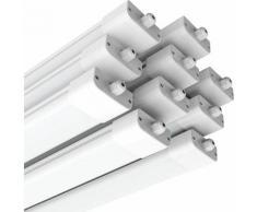 10×Anten 120CM Tube LED 36W Plafonnier Néon Tube LED Étanche IP65 Lampe sur Plafond Anti-Poussière