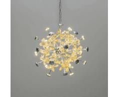 Lustre LED à papillons de cristal - Chloé - Argenté / Chromé