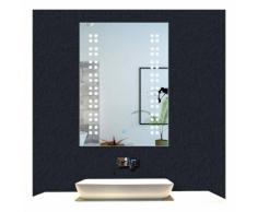 OCEAN Miroir de salle de bain 50x39cm miroir mural avec éclairage LED modèle Rain 1.5