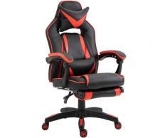 Homcom - Fauteuil gamer grand confort fauteuil de bureau gamer pivotant inclinable avec coussins et