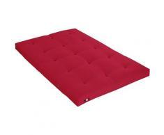 Idliterie - Matelas Futon Coton Couleur - Rouge, Dimensions - 160 x 200 cm