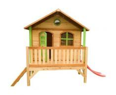 Stef Playhouse: Maisonnette pour enfants, fenêtres intégrées et bois très résistant