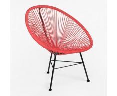 Chaise de jardin New Acapulco Polyéthylène - Acier - Rouge Coquelicot - Sklum
