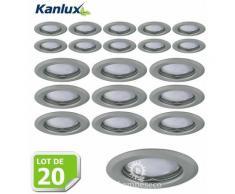 Lot de 20 Fixation de spot encastrable chrome matt D83mm marque Kanlux ref 26793