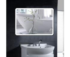 Miroir salle de bain avec éclairage miroir LCD pour salle de bain 600*800 mm