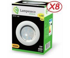 Lampesecoenergie - Lot de 8 Spot Led Encastrable Complete Blanc Lumière Blanc Neutre 5W eq.50W