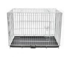 Cage en métal pliable pour chien acier galvanisé 109 x 70 x 78 cm