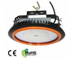 Anten 200W UFO Projecteur LED Industriel Rond Haute Baie d'éclairage Suspension IP65 Phare de