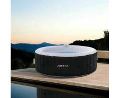 Piscine Spa Pool   Gonflable   Chauffage   Exterieur   Display LED - Arebos