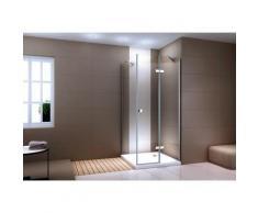 Paroi de douche fixe et porte battante en verre NANO transparent 90 x 90 x 190cm