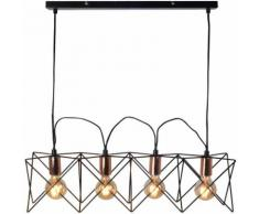 Suspension LED, cuivre, L 73 cm, AYR