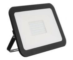 Ledkia - Projecteur LED Slim Crystal 100W Noir Blanc Chaud 3000K - 3500K - Blanc Chaud 3000K - 3500K